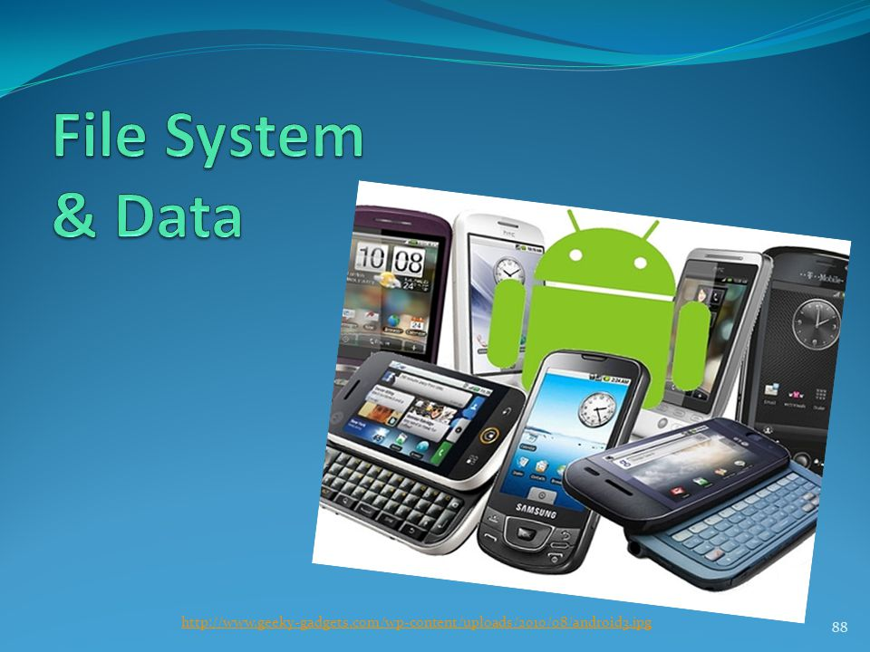 File System & Data http://www.geeky-gadgets.com/wp-content/uploads/2010/08/android3.jpg