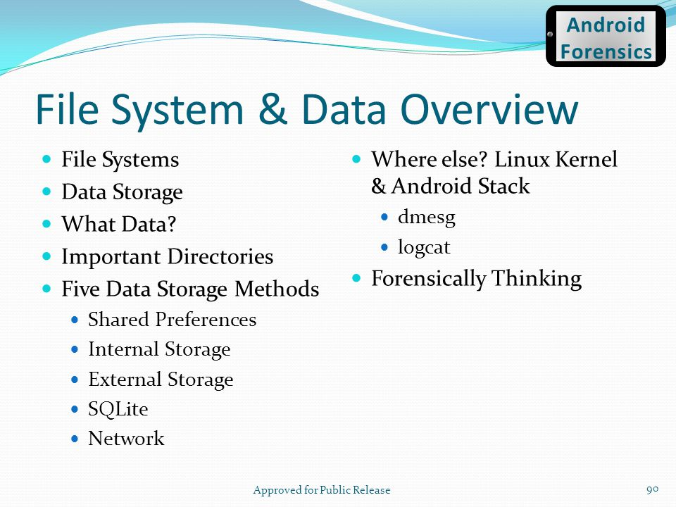 File System & Data Overview