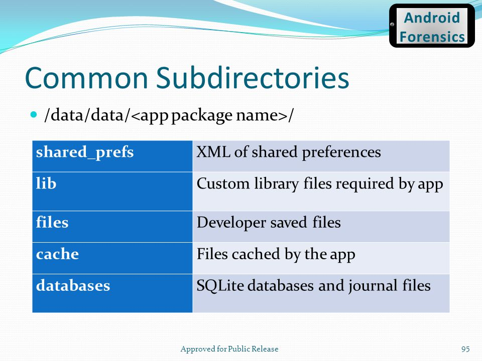 Common Subdirectories