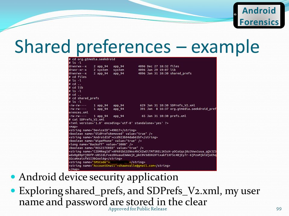 Shared preferences – example