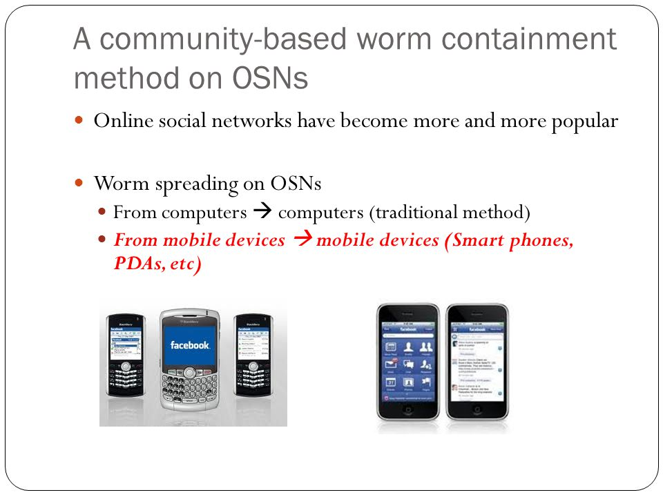 A community-based worm containment method on OSNs