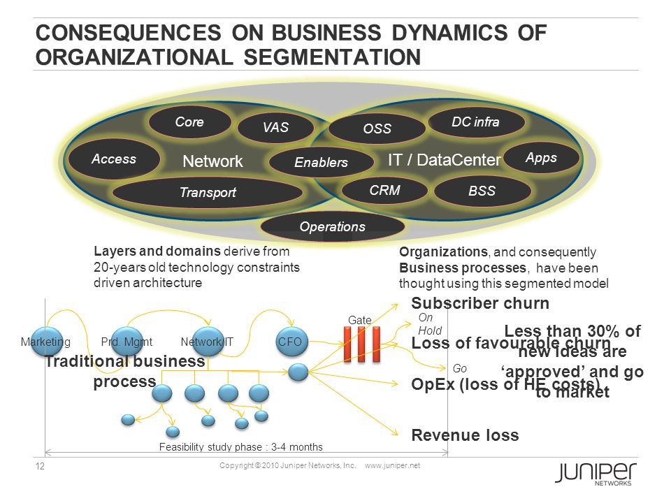 consequences on business dynamics of organizational segmentation