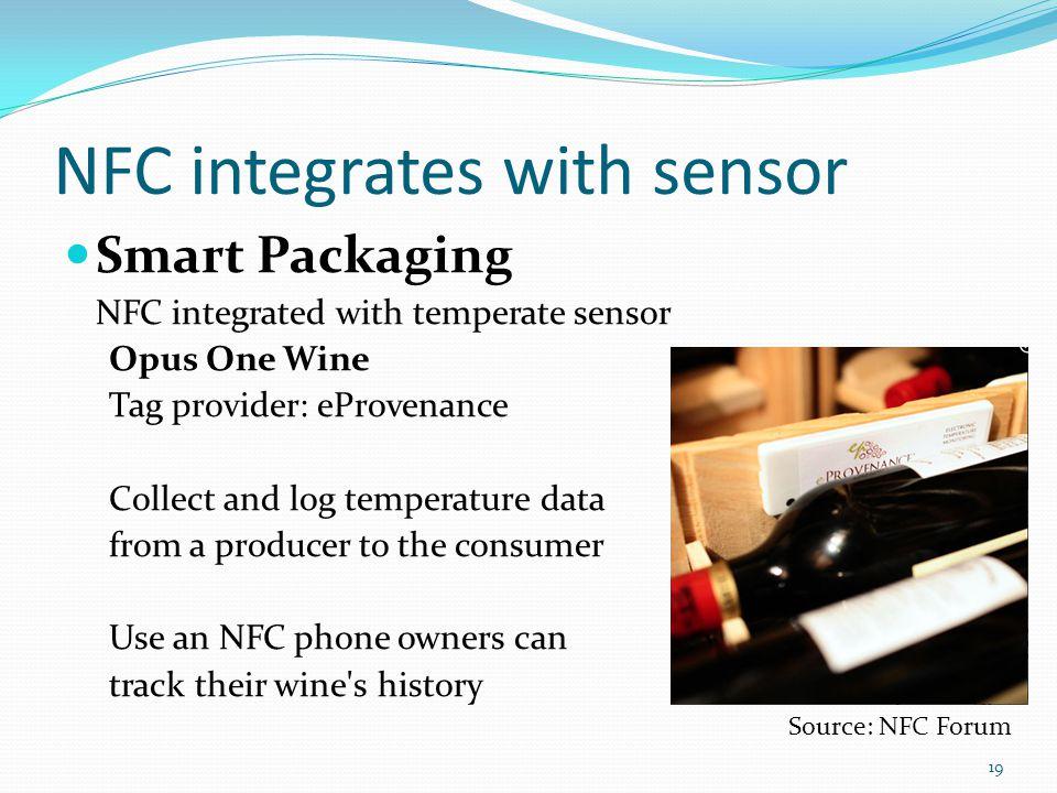 NFC integrates with sensor