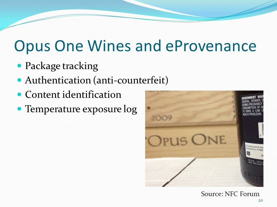 Opus One Wines and eProvenance