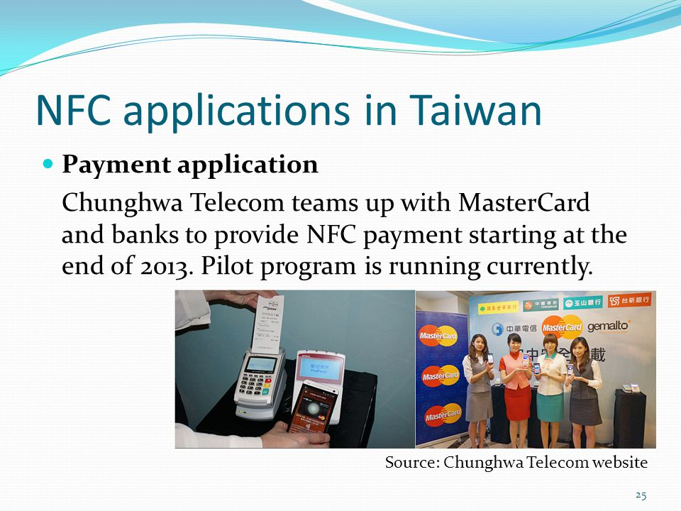 NFC applications in Taiwan