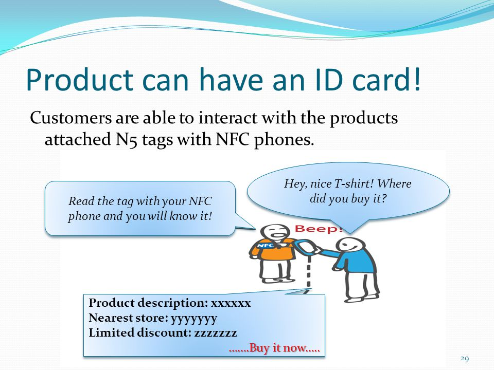 Product can have an ID card!
