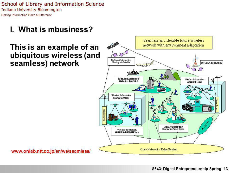 This is an example of an ubiquitous wireless (and seamless) network