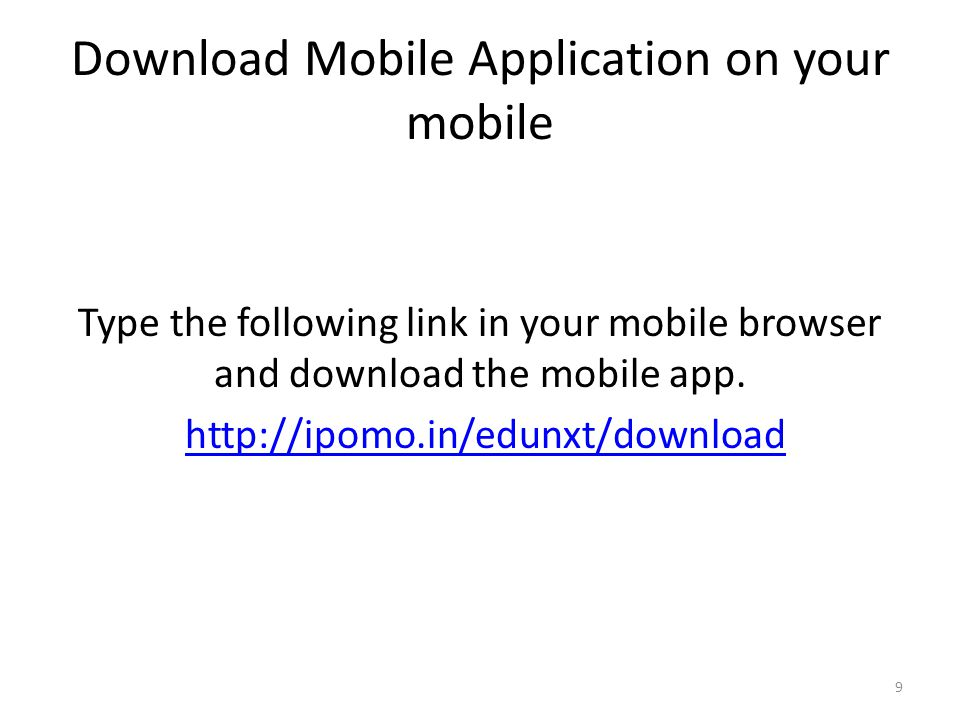 Download Mobile Application on your mobile