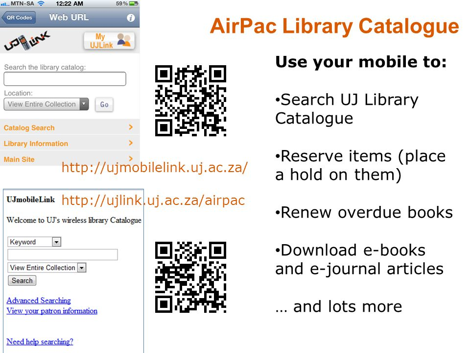 AirPac Library Catalogue