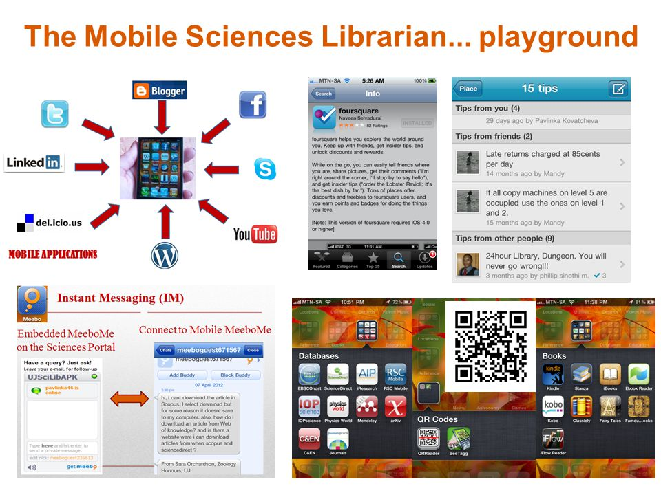 The Mobile Sciences Librarian... playground