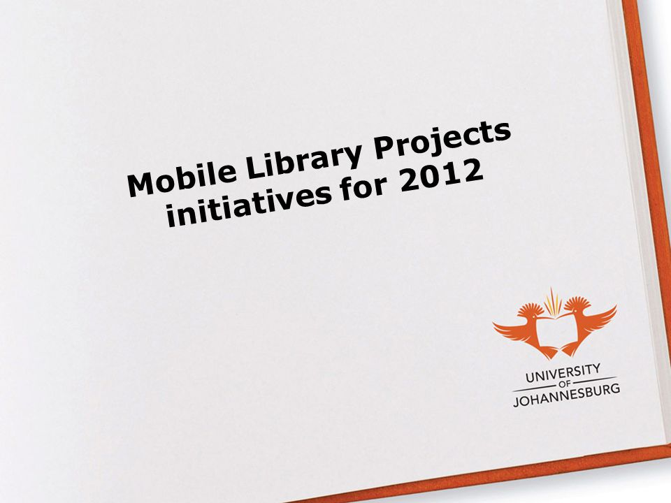Mobile Library Projects initiatives for 2012