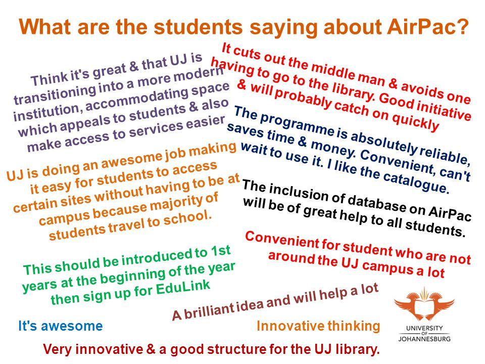 What are the students saying about AirPac