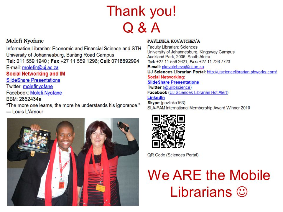 We ARE the Mobile Librarians 