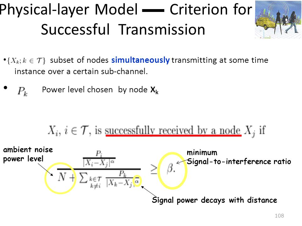 Physical-layer Model — Criterion for Successful Transmission