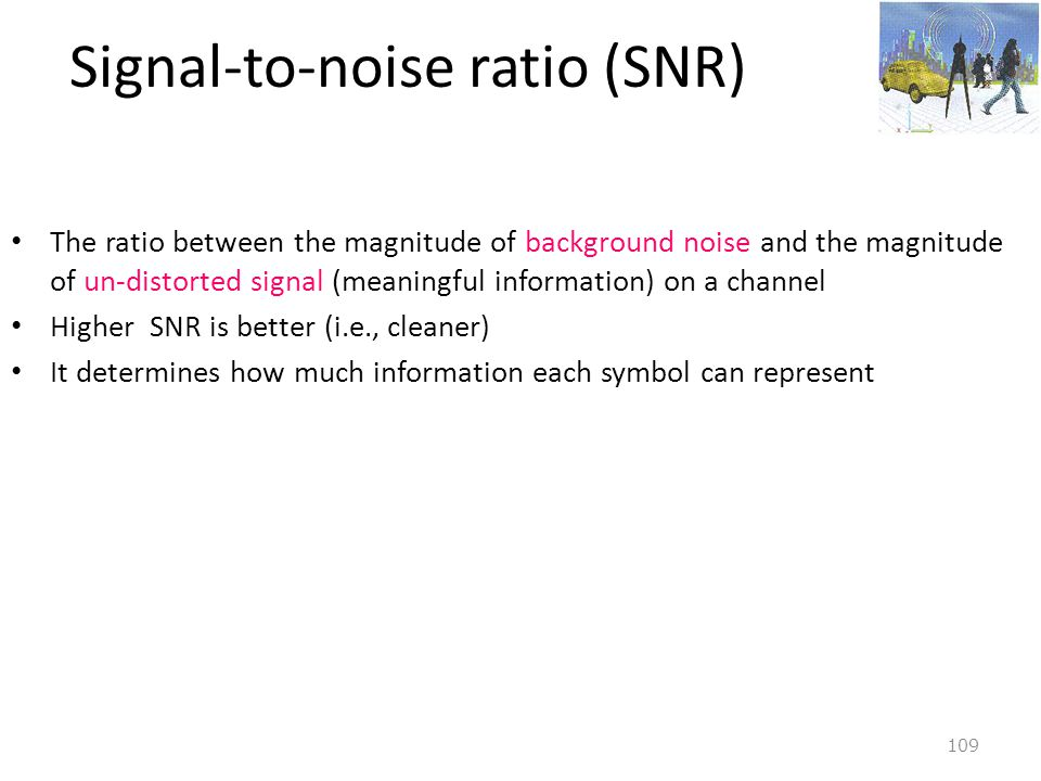 Signal-to-noise ratio (SNR)
