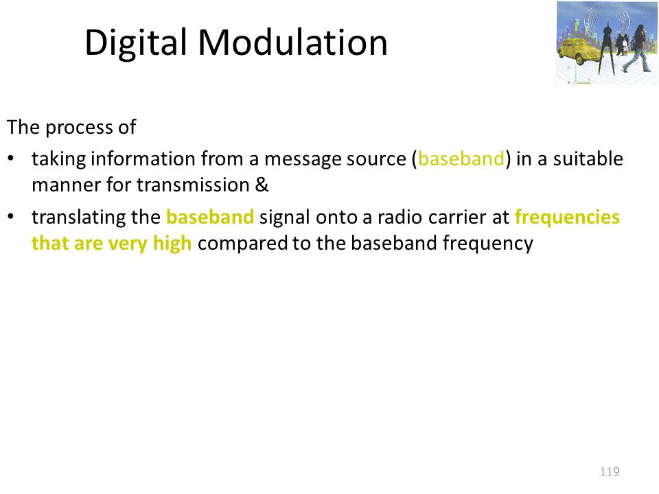 Digital Modulation The process of