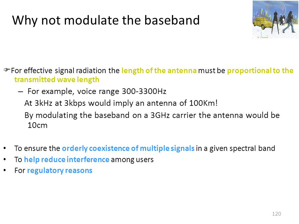 Why not modulate the baseband
