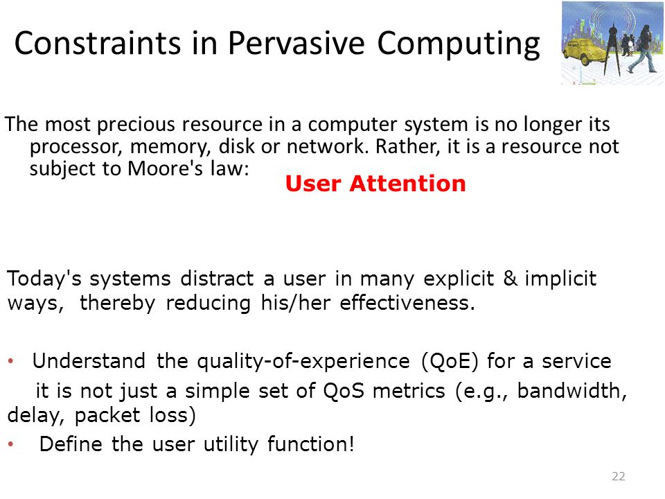 Constraints in Pervasive Computing