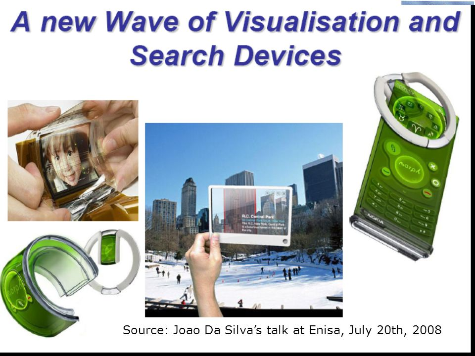 Source: Joao Da Silva's talk at Enisa, July 20th, 2008
