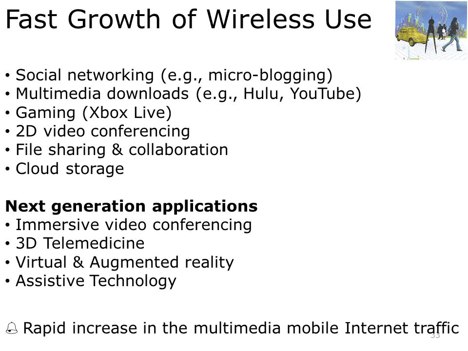 Fast Growth of Wireless Use