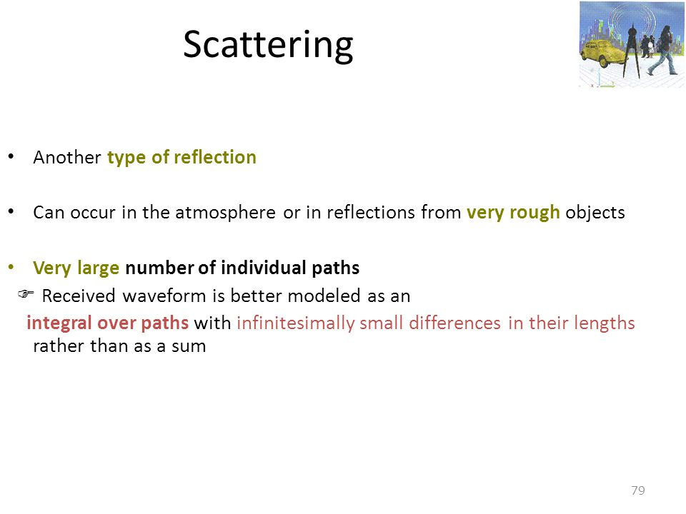 Scattering Another type of reflection
