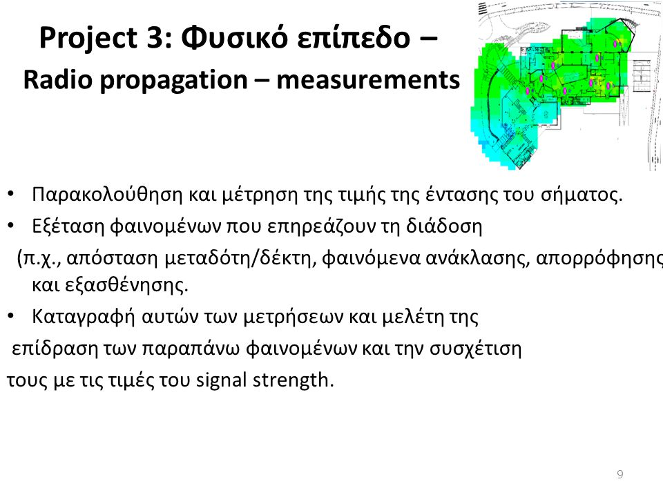 Project 3: Φυσικό επίπεδο – Radio propagation – measurements