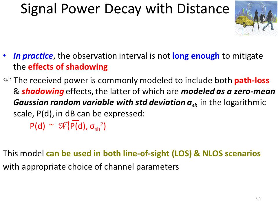 Signal Power Decay with Distance