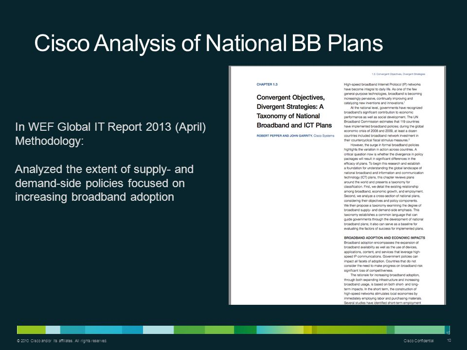 Cisco Analysis of National BB Plans