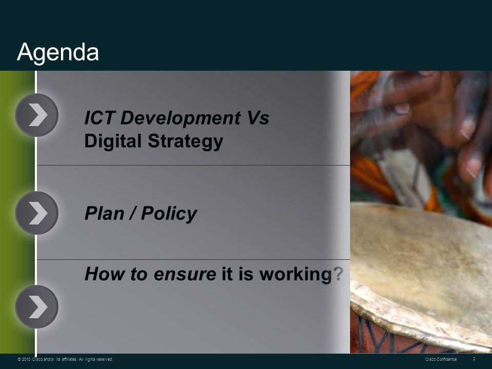 Agenda ICT Development Vs Digital Strategy Plan / Policy