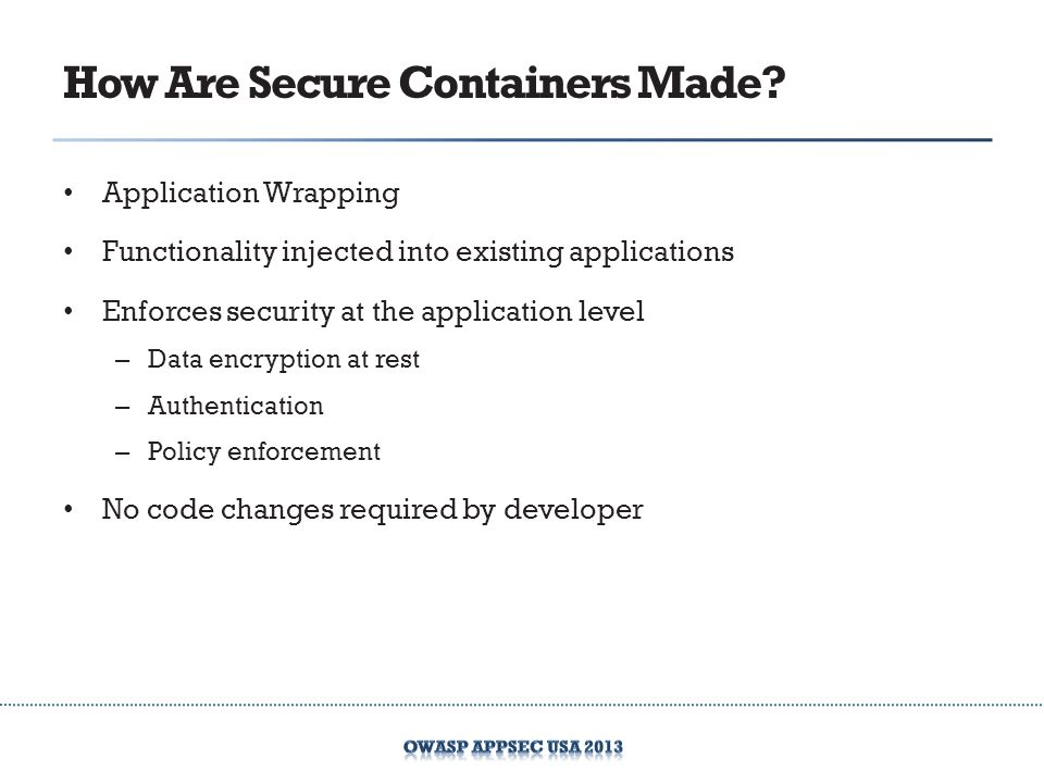How Are Secure Containers Made