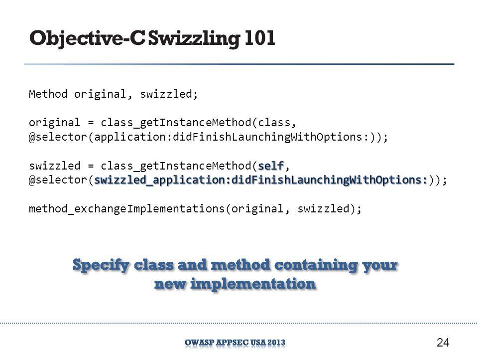 Objective-C Swizzling 101