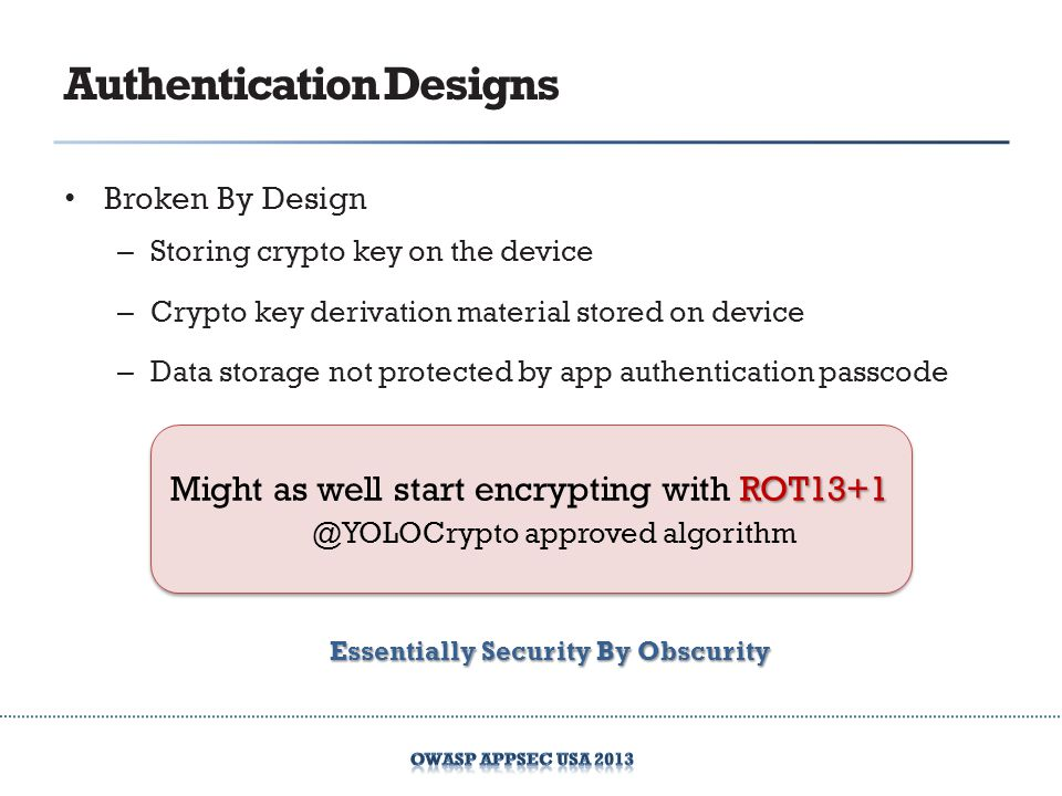 Authentication Designs