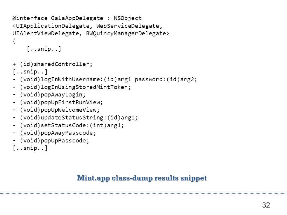 Mint.app class-dump results snippet