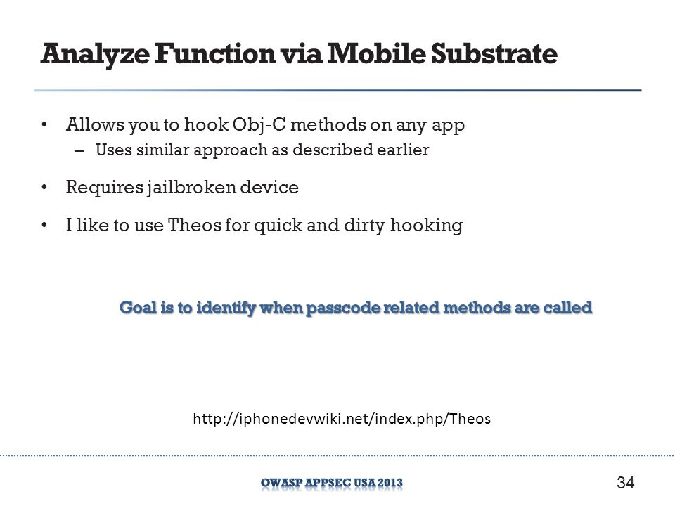 Analyze Function via Mobile Substrate