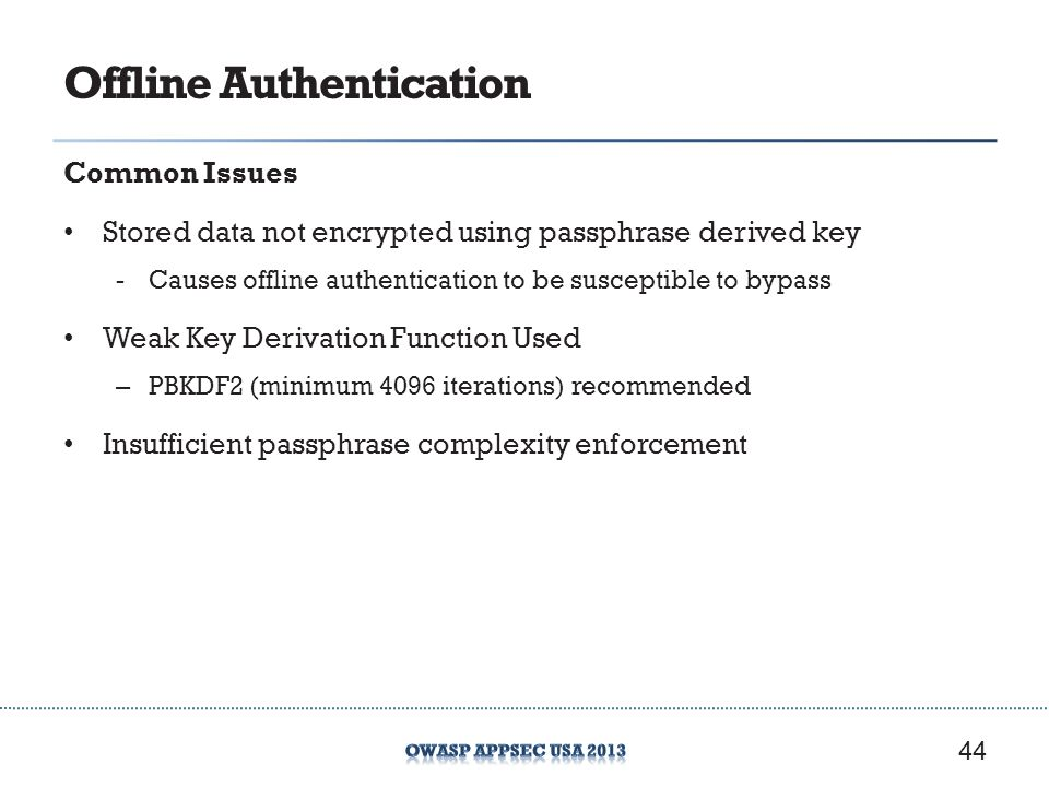 Offline Authentication