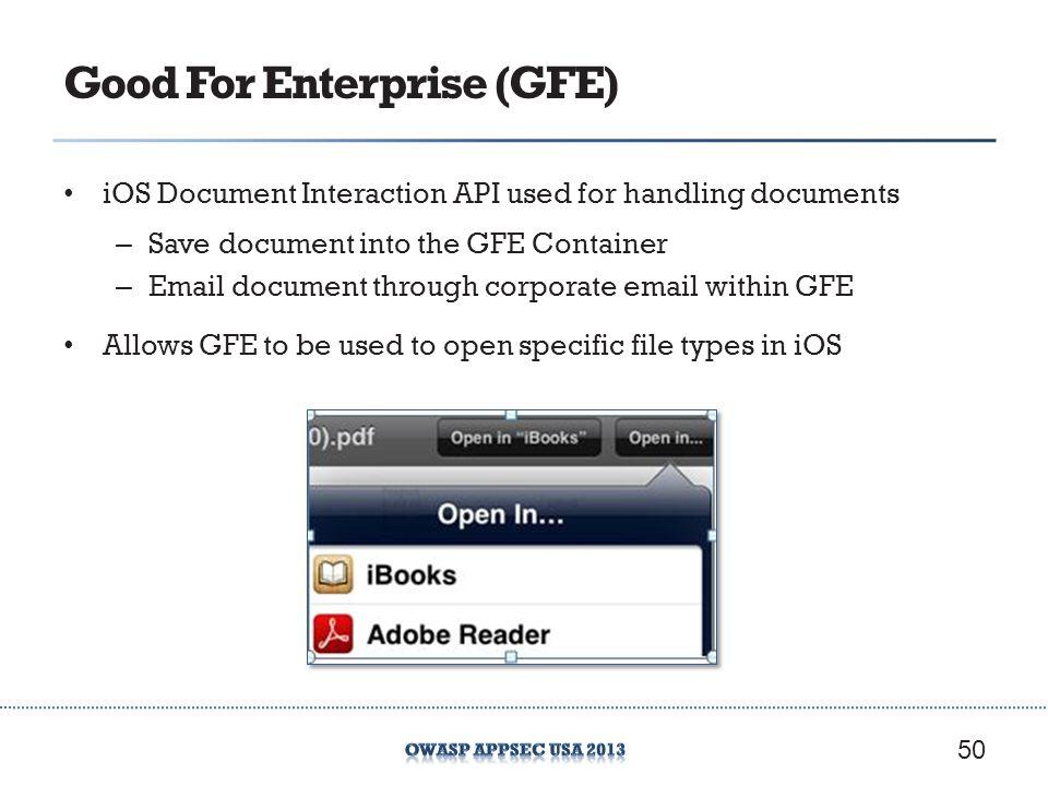Good For Enterprise (GFE)