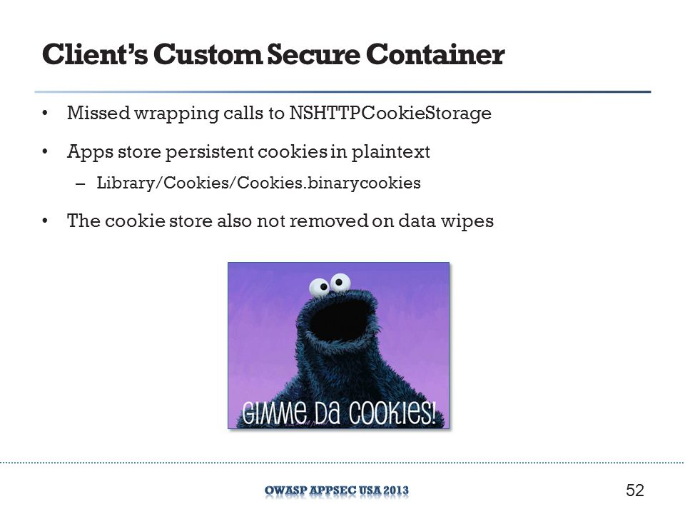 Client's Custom Secure Container