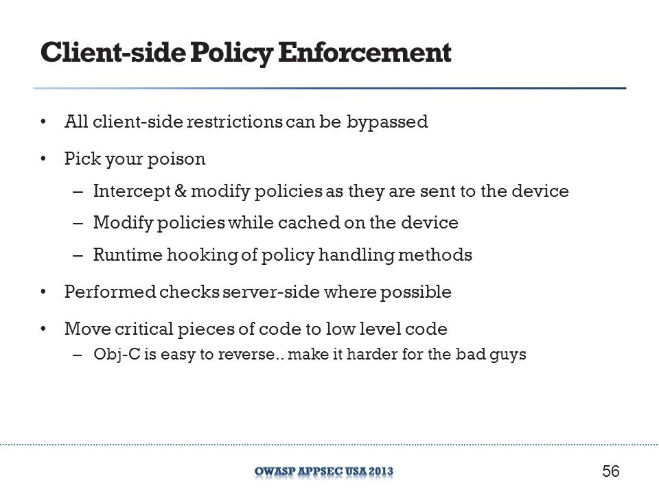 Client-side Policy Enforcement
