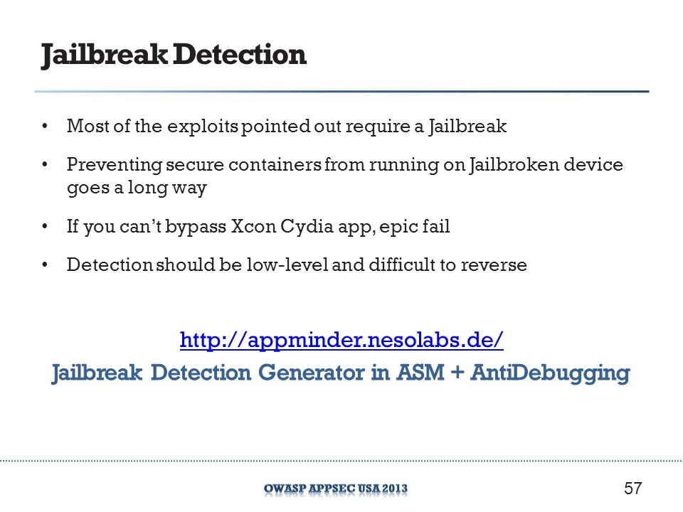 Jailbreak Detection Generator in ASM + AntiDebugging
