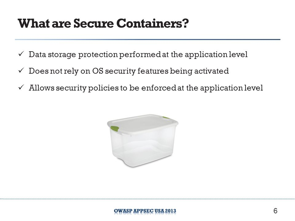 What are Secure Containers