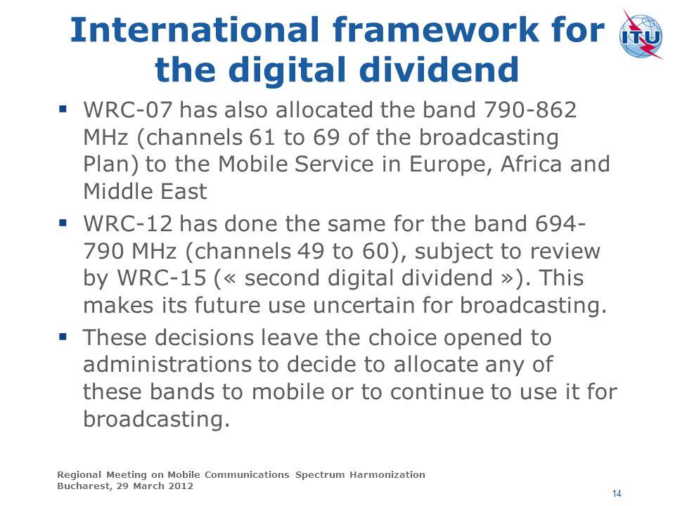 International framework for the digital dividend