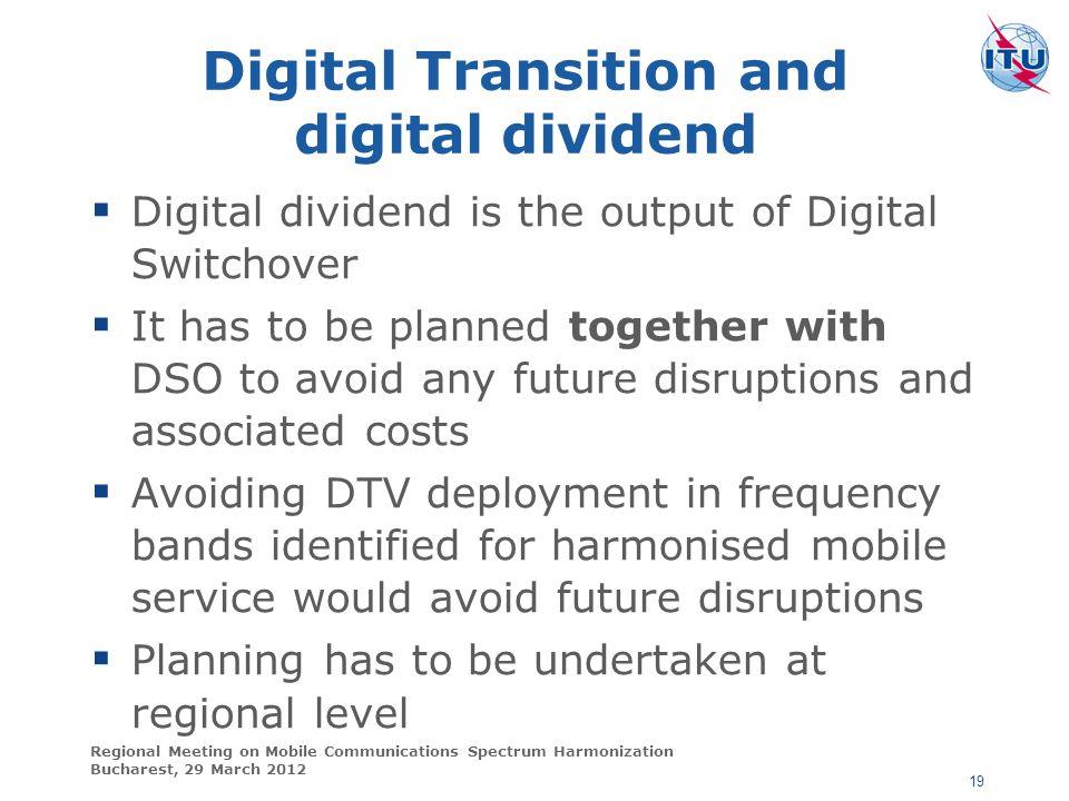 Digital Transition and digital dividend