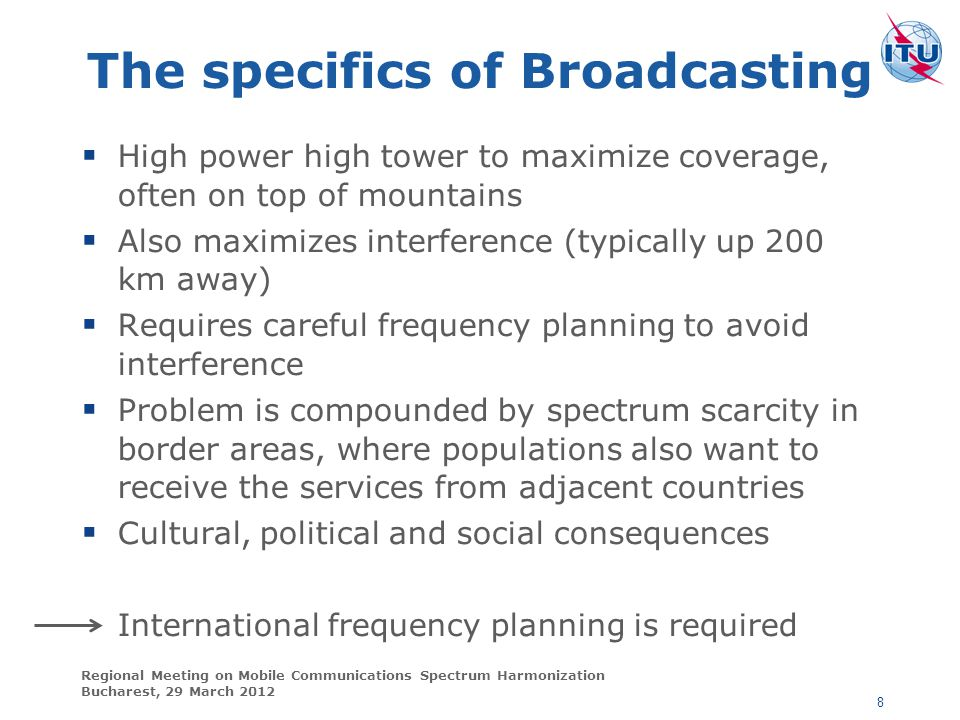 The specifics of Broadcasting