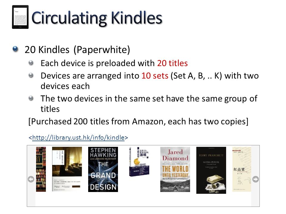 Circulating Kindles 20 Kindles (Paperwhite)