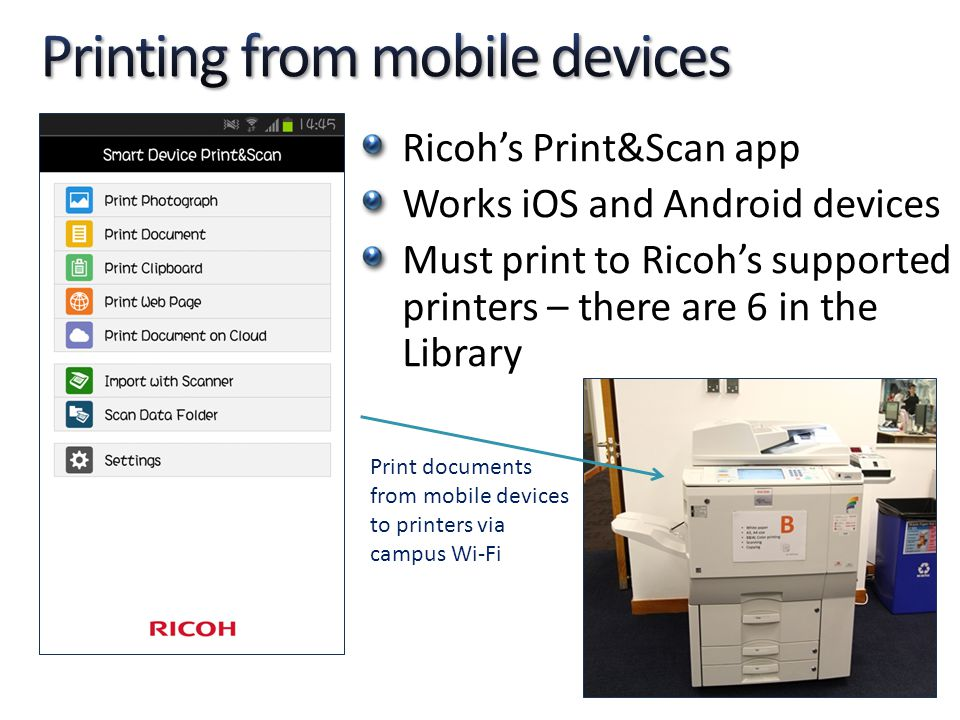 Printing from mobile devices