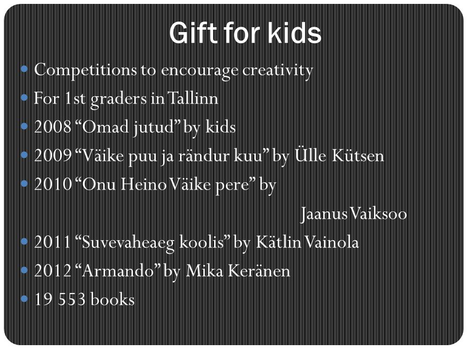 Gift for kids Competitions to encourage creativity