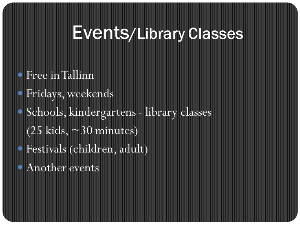 Events/Library Classes