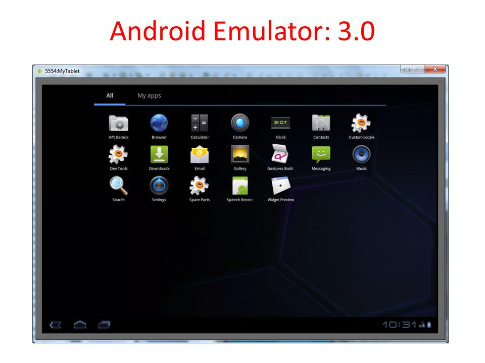 Android Emulator: 3.0