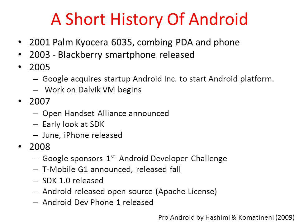 A Short History Of Android