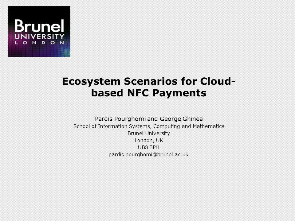 Ecosystem Scenarios for Cloud-based NFC Payments